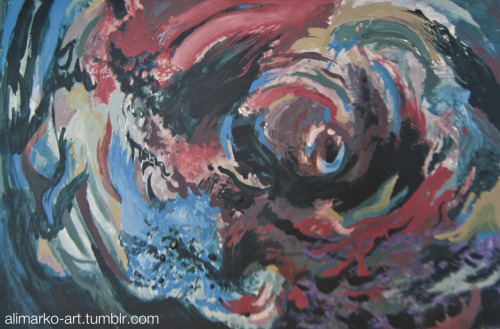 Thought Vortex. 2010. Acrylic paint on paperboard.
