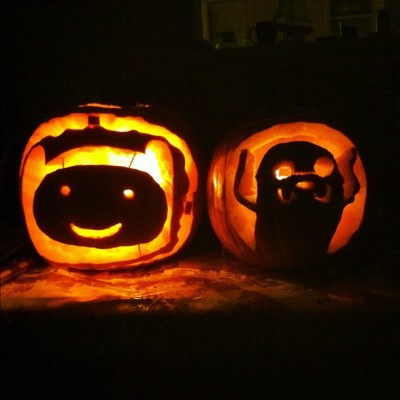 Finn & Jake #adventuretime #Pumpkin #BFFs (Taken with instagram)