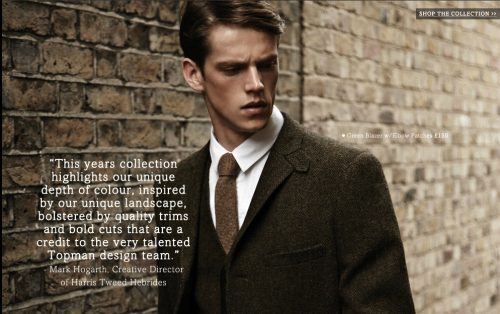 Harris Tweed on www.topman.com Styling - Harry Lambert photography- Duane Nasis