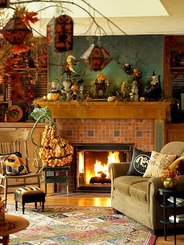 Halloween ideas for a living room - 1
