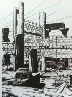 andreasangelidakis:  Ruined Megastructure, Incubation Process, Arata Isozaki 1962