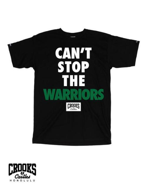 Can't Stop the Warriors Tees- available now in Mens, Women's and Boys exclusively from the Hawaii store.  Stop by tomorrow morning in time for the Homecoming game!