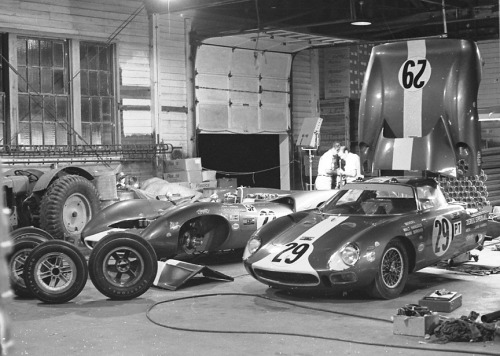 Mecom Racing Garage at Sebring 1965