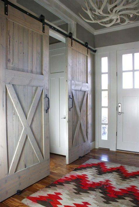 Double sliding barn doors (via Home / Large Sliding Stable Doors (art studio barn))