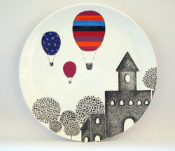 Castle design wall plate by ZuppaAtelier on Etsy