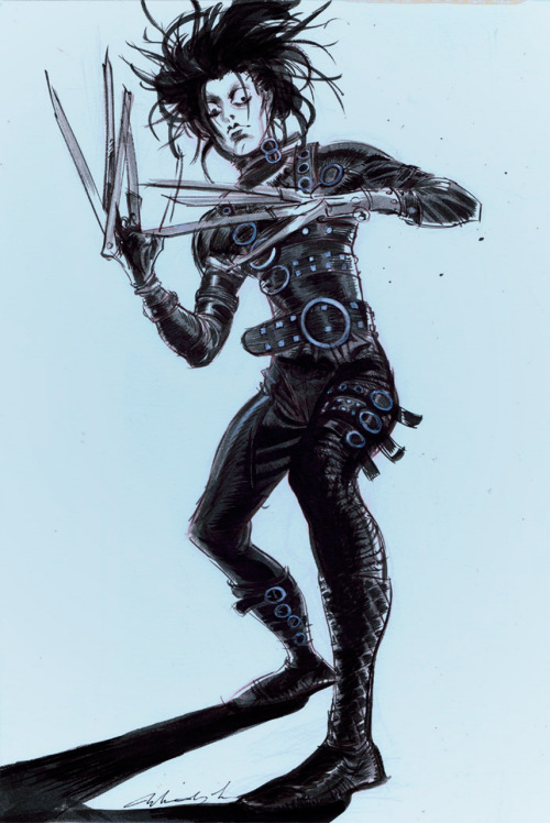 "theartofanimation:  Mindy Lee: ""Edward Scissorhands"""