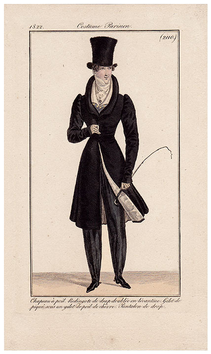 damesalamode:  Journal des Dames et des Modes, 1822. Lookit that fuzzy hat!
