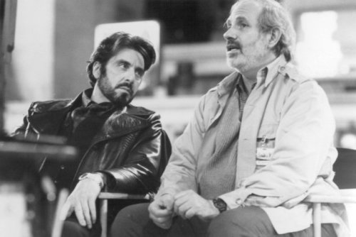 brandon1k:  De Palma and Pacino on the set of Carlito's Way.