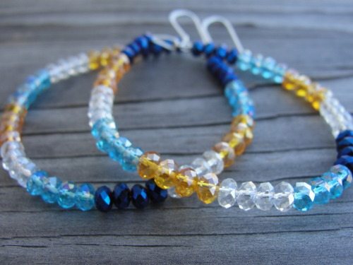 Southwestern crystal hoop earrings
