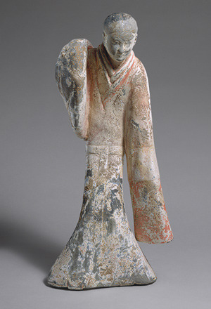 Female Dancer, Western Han dynasty (206 b.c.–9 a.d.), 2nd century b.c.ChinaEarthenware with slip and pigments