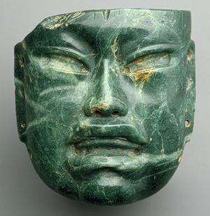 Mask, 10th–6th century b.c.Mexico; OlmecJadeite