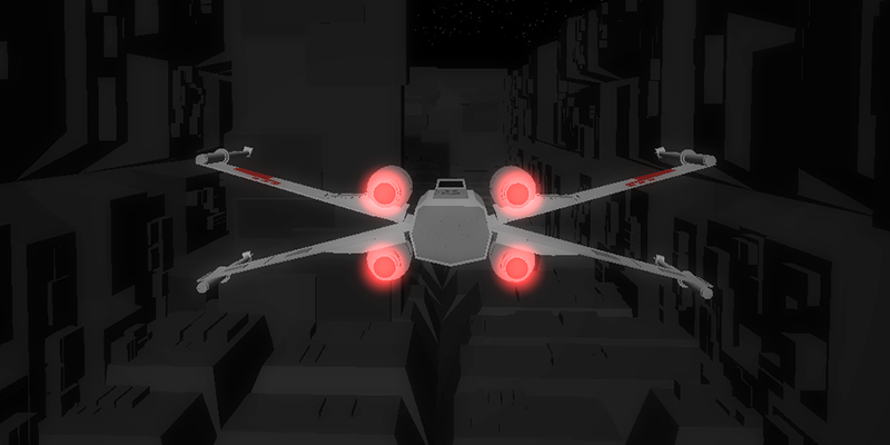 decodering:  WebGL X-Wing Surprisingly good fun. Made with three.js. Be a rebel. Fight the empire. All with html5 and javascript. IN 3D. I found myself yelling at the screen in anger every time I blew up. haha