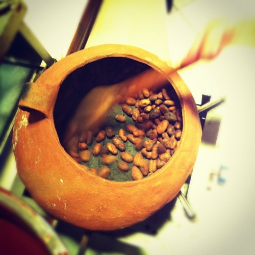 Cacao beans (Taken with Instagram at Choco Museo)