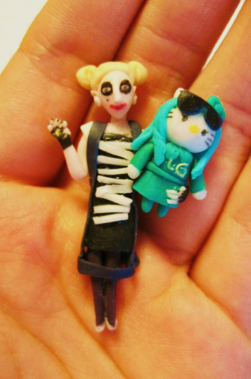 ladyxgaga:  Gaga Clay Art by chicchacoi  Damn, I wish I had a cool hobby like this.