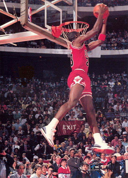 basquiatswag:  Michael Jordan 1987 Slam Dunk Contest