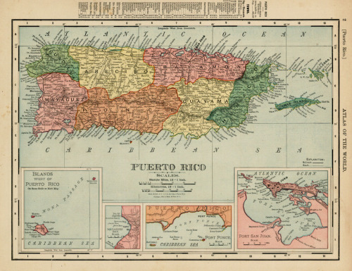 Rand McNally & Co., 1895, Puerto Rico