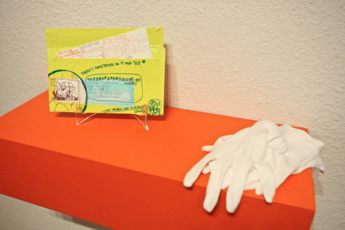 Val-Pak; paper, gouache, Sharpie, duct tape, Micron pen; installation view: Shoppybag, 2011.