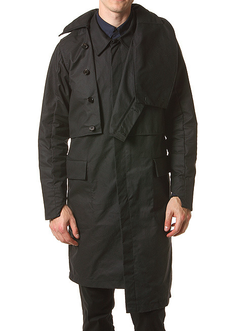 SIKI IM Coated Cotton Trench in Black Find at blackbirdballard.com