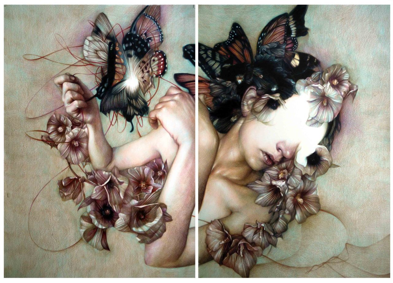 artchipel:  Marco Mazzoni | marcomazzoni - A Different Kind of Pain. Colored pencils on paper, 65x92 cm (2011)