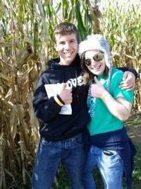 Corn Maze winners, 2011. Savannah THE Bamf, and Mini-Bamf.