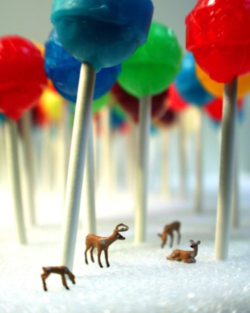 "lovelyetsy:  ""Lollipop Forest"" Print by kristimcmurry"