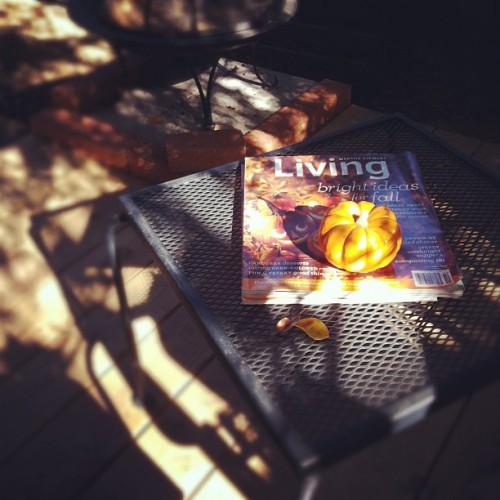 Getting inspired on the deck! #nature #silverlake #fall #halloween #pumpkin (Taken with Instagram at Silverlake, Los Angeles CA)