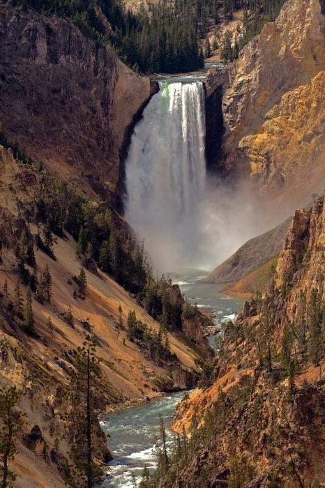 The Grand Canyon of the Yellowstone, Wyoming (via Photograph by Robert Pilkington - Grand Canyon of the Yellowstone Fine Art Prints and Posters)