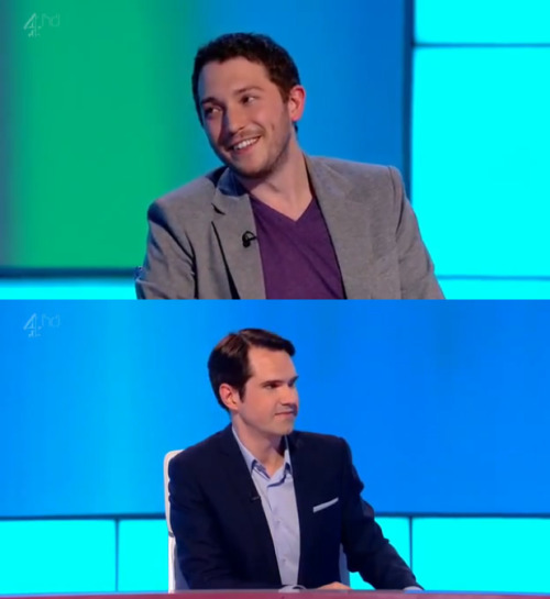 "whitepajamas:  Jimmy Carr: So, who's the poshest person you've met? Who's the poshest—? Jon Richardson: You. Jimmy Carr: I'm not that posh! I come across, I think, as a little bit posh, but I'm not. Jon Richardson: That's posh. ""I'm not actually that posh, I—""Jimmy Carr: I grew up in Slough, I can't be that posh. I've just got very good diction. I'd stab you as soon as fucking look at you."