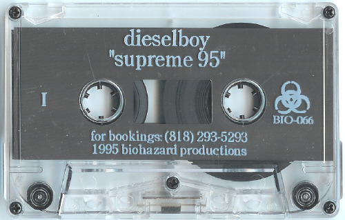 Dieselboy - Supreme 95 (Promo Mix) TRACKLIST: Side AHidden Agenda - On the Roof [Metalheadz] Alex Reece - B-Boy Flavour [Metalheadz] Skanna - Find Me [Skanna] Photek - The Rain [Metalheadz] Aquasky - Images [Moving Shadow] JMJ & Richie - Free La Funk [Moving Shadow] Aquarius & Tayla - Bringing Me Down [Good Looking] M.T.S. - Inspiration [Juice] Photek - Consciousness [Photek] Desired State - Goes Around [Ram] DJ Trace - Final Chapta (Rollers Mix) [Dee Jay] DJ Hype & Ganja Max - Rinse Out [Ganja] Splash - Babylon (DJ Trace Mix PT 2) [Dee Jay] DJ Zinc - So Damn Fresh [Ganja]Side B Da Dogz - Non Stop [Prime Time Wax] Roni Size - Time Stretch (Origin Unknown remix) [V] Asylum - Steppin' Hard [Metalheadz] Basic Movements - Bubble & Wine [Suburban Base] Desired State - Here & Now [Ram] Octave One - Technology [31] Photek - Complex [Photek] Phaze 1 - Natural [Timeless] Amazon II - Deep In The Jungle (DJ Rap remix) [Aphrodite] Roni Size - Phyzical (Vintage remix) [V] J Majik - Needle Point Majik [Metalheadz] Wax Doctor - The Step [Metalheadz] Dillinja - Heavenly Bass [Logic Productions] DOWNLOAD: SIDE A | SIDE B