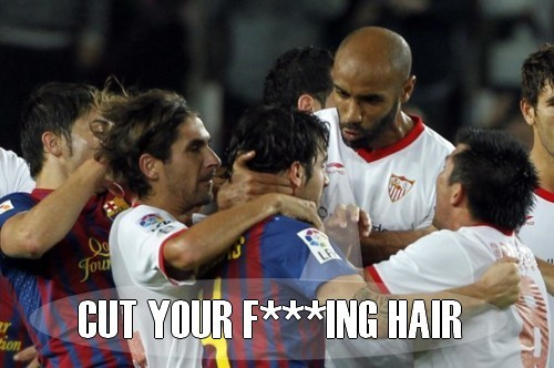 footballwhore:  The real reason behind Kanoute's rage!  Footballers' hair is a subject we(I) here at the Surreal Football Tumblr are(am) very concerned about and dedicated to providing thorough in-depth coverage of.