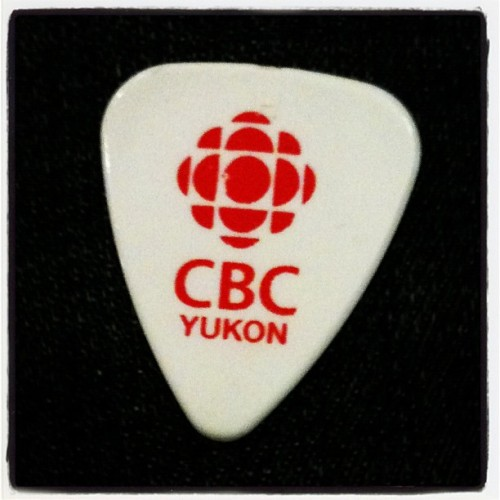 My sweet new CBC North guitar pick courtesy of Dave White. (Taken with instagram)