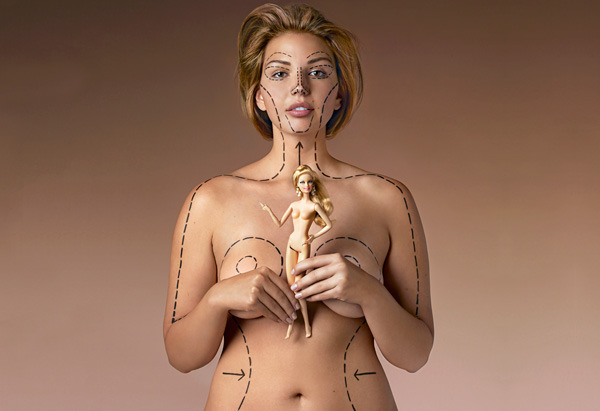 Barbie Proportions. PS: Never hate your body. Interesting article, click on the image to read it.