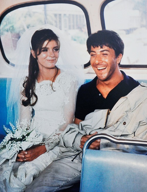 Katharine Ross and Dustin Hoffman, The Graduate, 1967.  Watched this on Thursday, actually, with radicalfarouteuphoria. :)