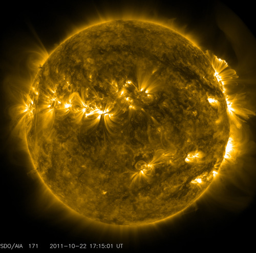 discoverynews:  Devilish Solar Activity  The NASA Solar Dynamics  Observatory (SDO)'s AIA instrument at 171 Angstrom took some amazing pictures of solar activity. Read more