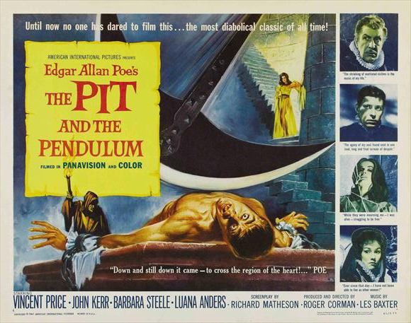 Tonight's feature… The Pit and the Pendulum (1961), because it's Fall…and Fall is perfect time for classic horror starring Vincent Price.
