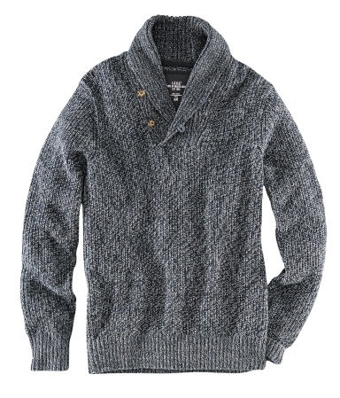 Free Mens Cable Knit Sweater Patterns : SHAWL COLLAR PULLOVER SWEATER KNITTING PATTERN   KNITTING PATTERN
