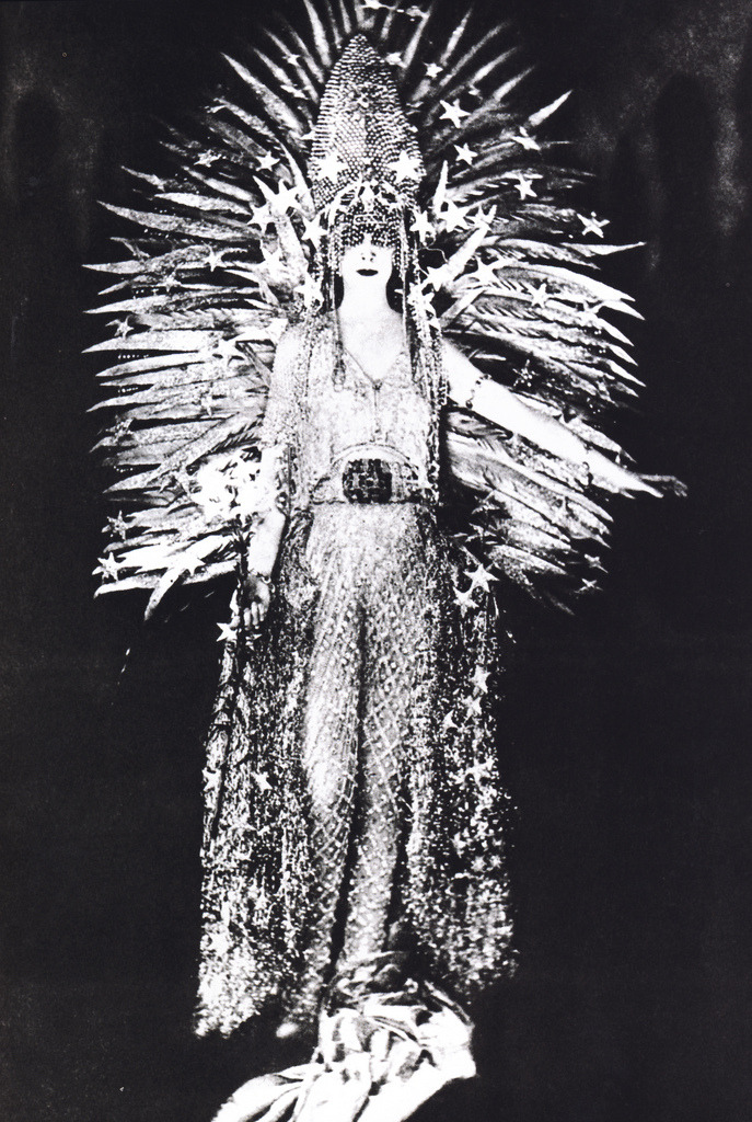 suicideblonde:  Socialite Marchesa Casati wearing a diamond encrusted costume by couturier Charles Worth meant to represent 'Light' in 1890