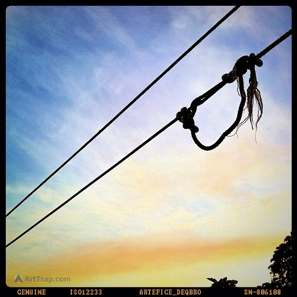 Early Morning Tightrope (Taken with instagram) An iPhone 4 photo taken with iCamera HDR and processed with qbro. (App Store affiliate links).  An iPhone photo by Louis Trapani at arttrap.com