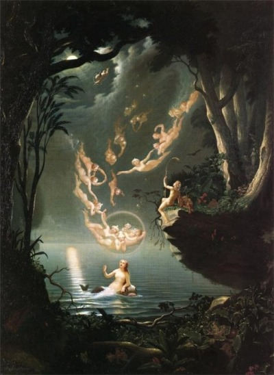 lizardkings:  Douglas Harvey - Oberon and the Mermaid, 1853