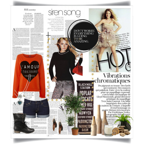 Shopping! by that0little0witch featuring printed sweatersPrinted sweater, £14Levi Strauss & Co short shorts, $70Betsey Johnson high heel boots, $150Betsey Johnson crystal necklace, $45Wet Seal feather jewelry, $5.50Brooch, £20Found Wood Vases - Set of 3 - Vases - Home Accents - Home Decor |…, $59Le Labo Figue 15 Candle, £47London Tube Wall Banner - Unframed Art - Wall Decor - Home Decor |…, $34Ikea Grapefrukt, $7.99Towering Ficus Plants, Towering Ficus Plant Basket - Teleflora.com, $105