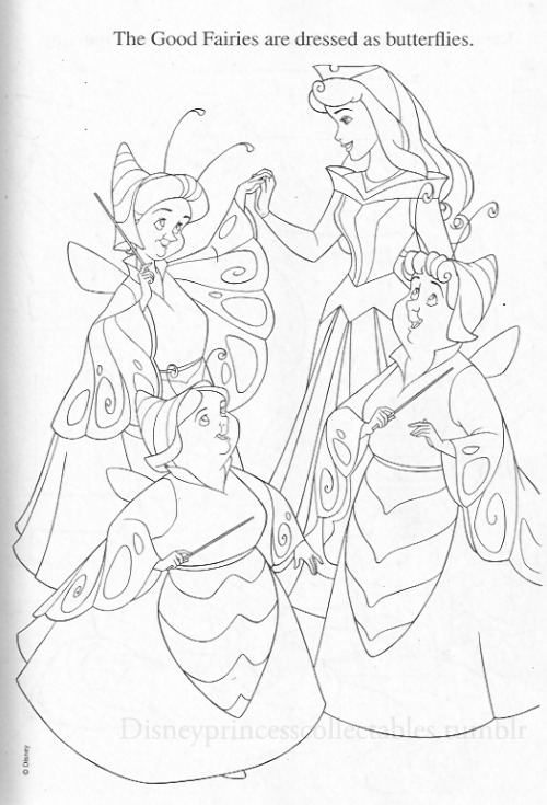 "disneyprincesscollectables:  From ""A Princess Halloween"" coloring book."
