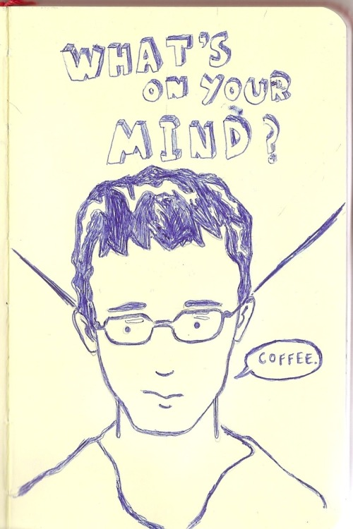 fuckyeahmoleskines:  What's on your mind? -inspired by a portrait in national portrait gallery in london