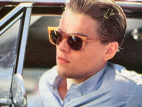 Leonardo DiCaprio hoping that these glasses don't make him look fat.