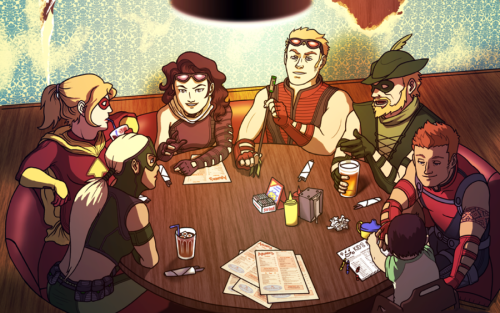 fuckyeahyoungavengers:  Archer's Diner by ~SuperPineapple  So many archers ♥