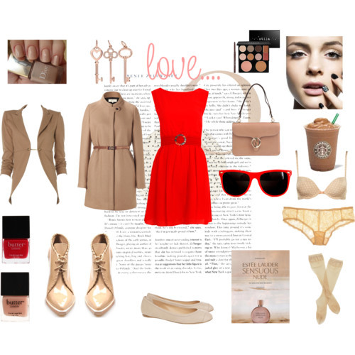 red dress for Z. V by monmaransi featuring chunky boots