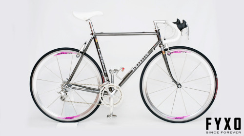 Pinarello Montello in Black Chrome (Chromonero). This is what I wanted for high school graduation back in '91! I got some running shoes instead… Campy C Record and STEEL the way it should be!