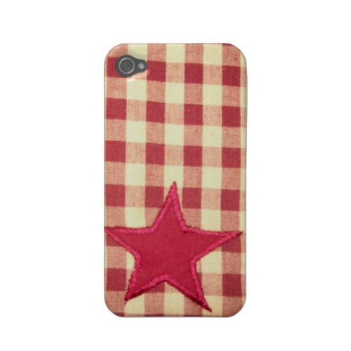 Star plaid iPhone 4S pattern.
