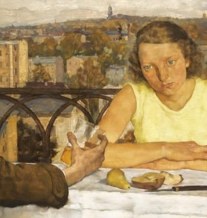 Lotte Laserstein, Evening over Potsdam, 1930 (detail)