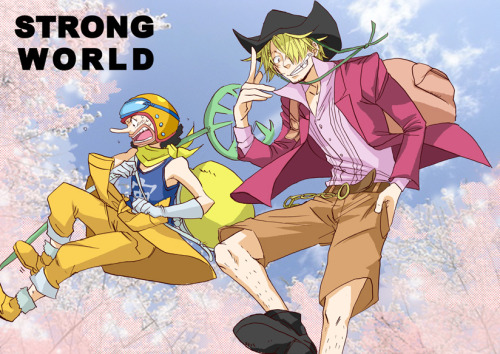 nerdy-pirate:  Sanji and Usopp, Strong World