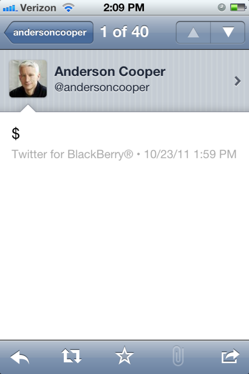 Anderson Cooper doesn't want us to forget how wealthy he is.